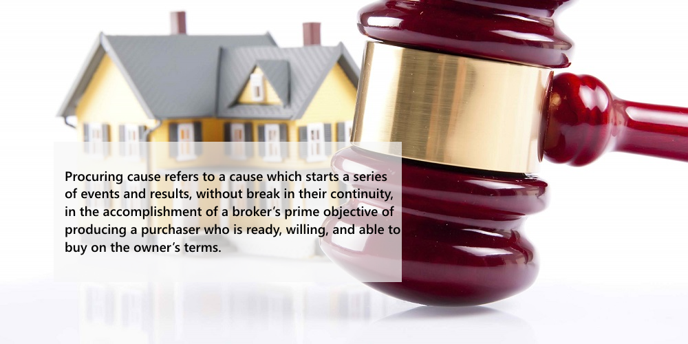 Real Estate Broker Must Be The Procuring Cause To Receive Commission